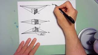 Hand Sketching #6 - Cubes from Any Perspective Height