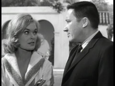 The Girl Hunters 1963  Mickey Spillane as Mike Hammer questions a bikiniclad Shirley Eaton