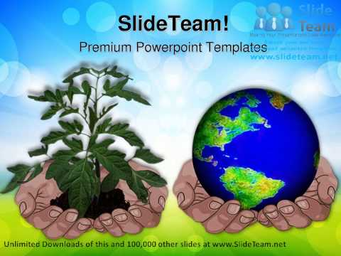 Hands Holding Globe And Plant Environment PowerPoint Templates Themes And Backgrounds ppt themes