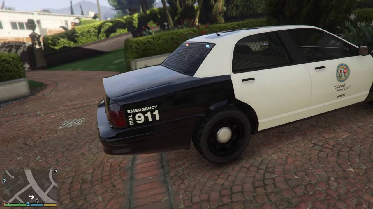 gta v ps4 voiture de police rare sans gyrophare ni glitch youtube. Black Bedroom Furniture Sets. Home Design Ideas
