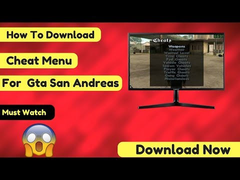 How To Download Cheat Menu For GTA San Andreas  In PC