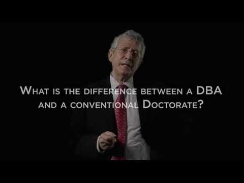 Difference between dba and phd