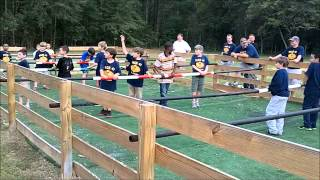 Human Foosball at Camp Butter and Egg