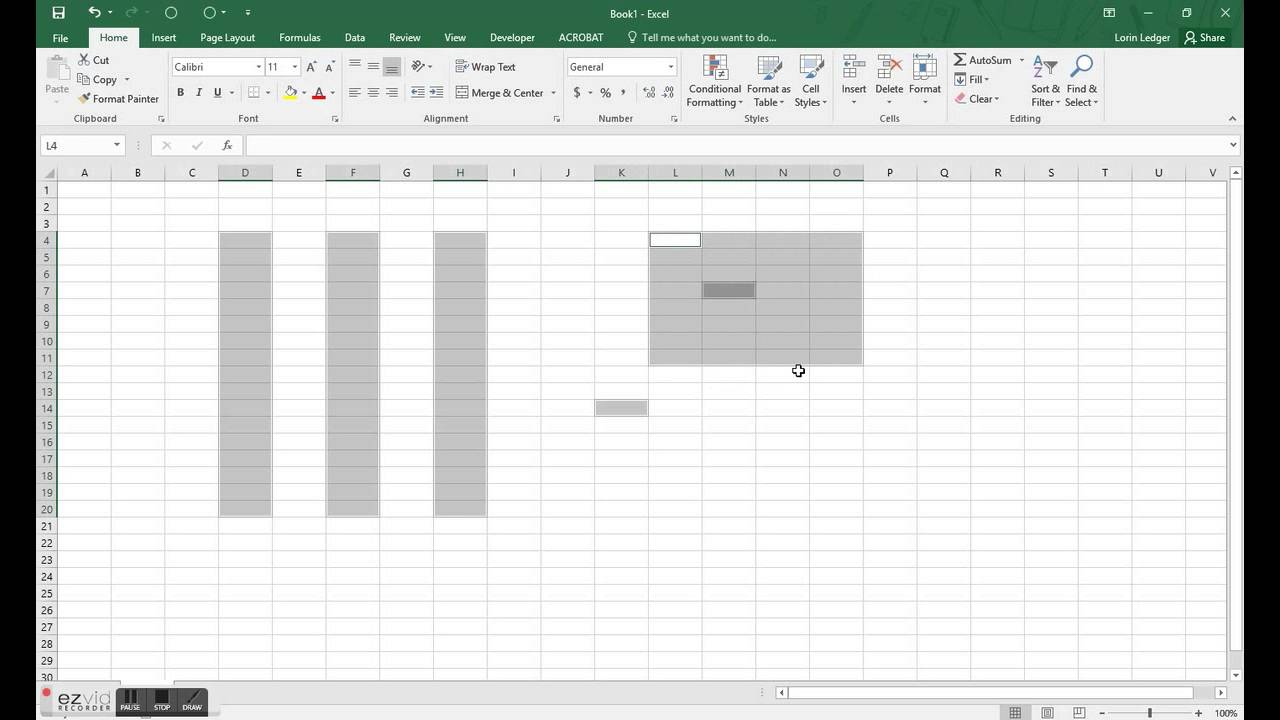 how to add new column in excel shortcut mac