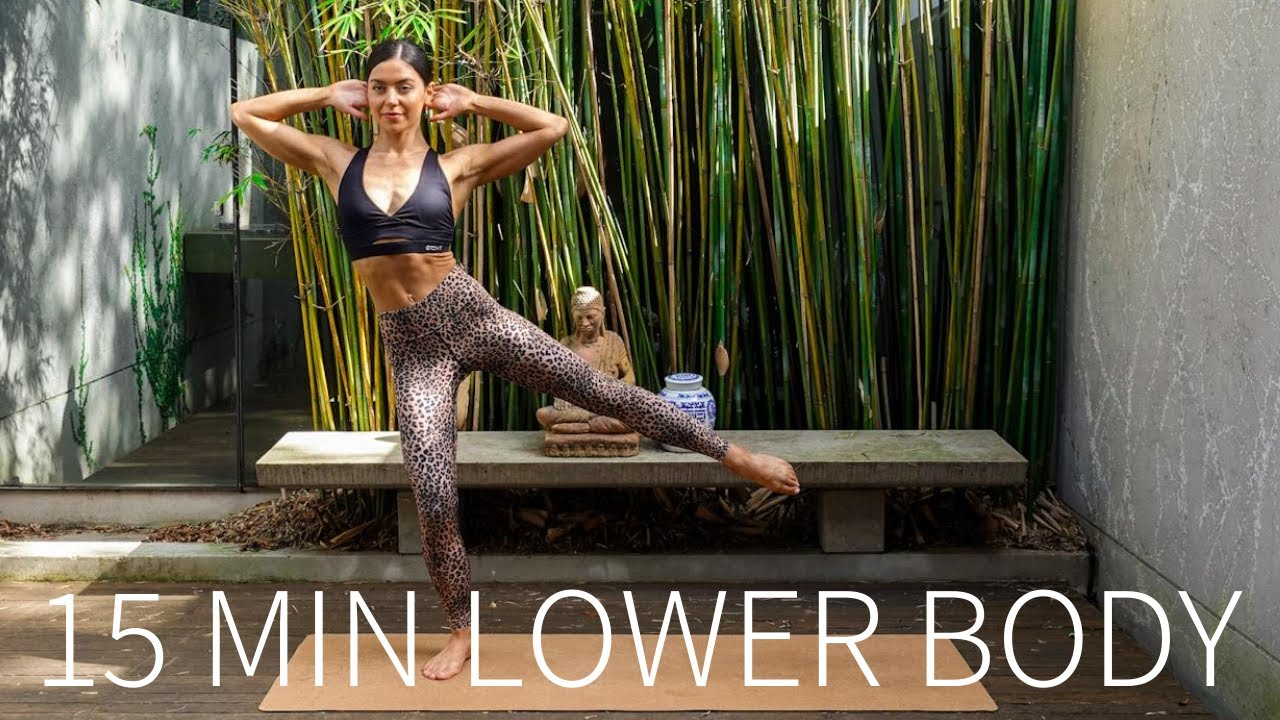 15 MIN LOWER BODY / GLUTES WORKOUT || At-Home Pilates (Stretch Included)