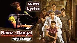 Naina Dangal   Arijit Singh  Pritam  Full Video Song  With Lyrics Unplugged