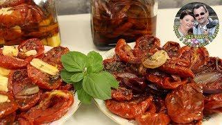 Сушено-Вяленые помидоры в духовке. Супер Закуска  на любой стол. Съедается махом