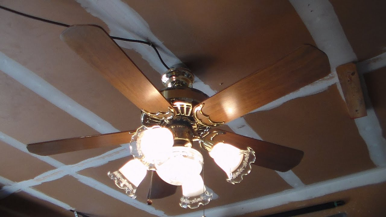 how to install five blades on a casablanca ceiling fan - youtube