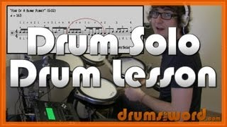 ★ Fear Of A Blank Planet (Porcupine Tree) ★ Drum Lesson | How To Play Drum Fill & Solo (Harrison)