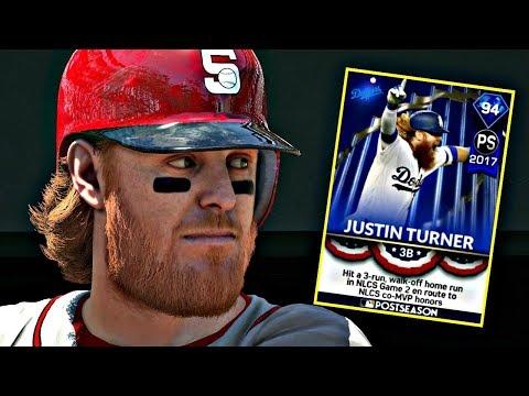 94 POSTSEASON JUSTIN TURNER DEBUT!! MLB THE SHOW 17 DIAMOND DYNASTY