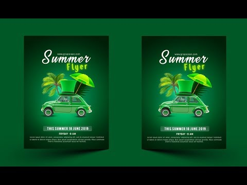 Flyer Design In Photoshop | Summer Party Flyer Tutorial