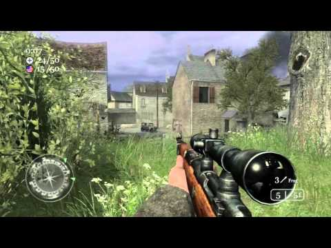 Call of Duty 2: TDM on Carentan + Countdown Preview