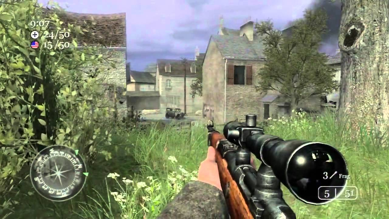 Call of Duty 2: TDM on Carentan + Countdown Preview - YouTube