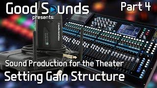 Setting Gain Structure (Part 4) | Sound Production for the Theater