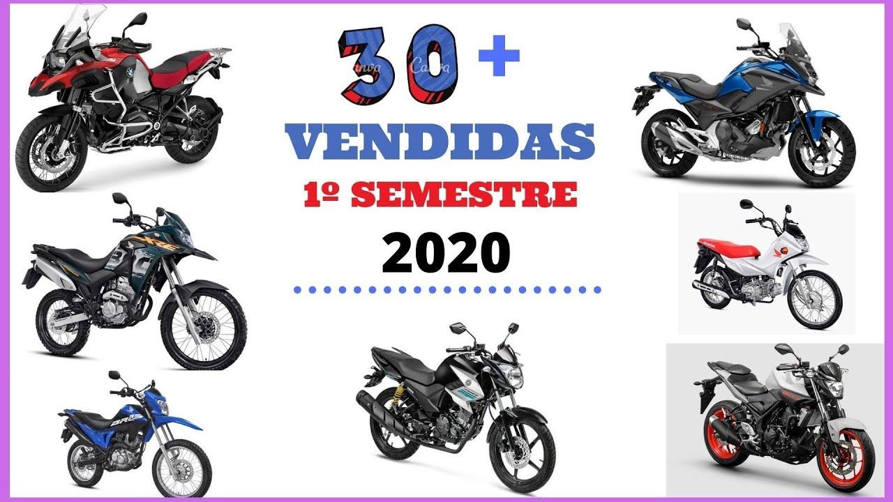30 Motos MAIS Vendidas no 1º SEMESTRE de 2020