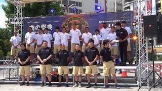2018年8月12日 肉リーグ×熊本ヴォルターズ@花畑広場.
