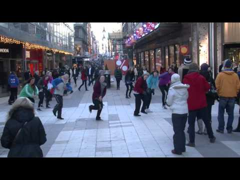 Tribute to the Children in Africa- Flash Mob, Sweden