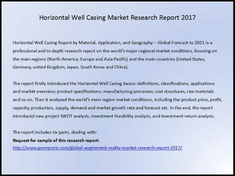 Gosreports Marketing: Horizontal Well Casing Market Research Report 2017
