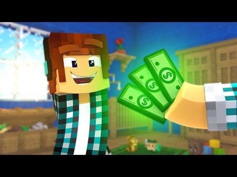 GANHEI DINHEIRO TRABALHANDO NO MINECRAFT !! - [ Vida de Creeper #5 ] - Minecraft