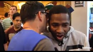 ADRIEN BRONER RUNS INTO ANGEL GARCIA WHILST BUYING SNACKS AT MGM GRAND