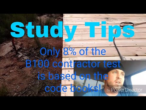 Contractor License test study tips