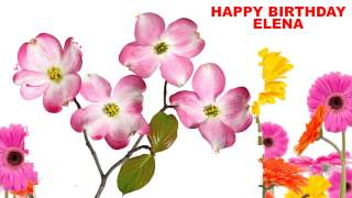 Elena - flowers - Happy Birthday
