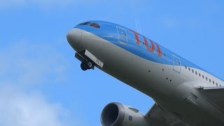First 787 With New Arke Name, TUI Livery Take Off From The Kaagbaan