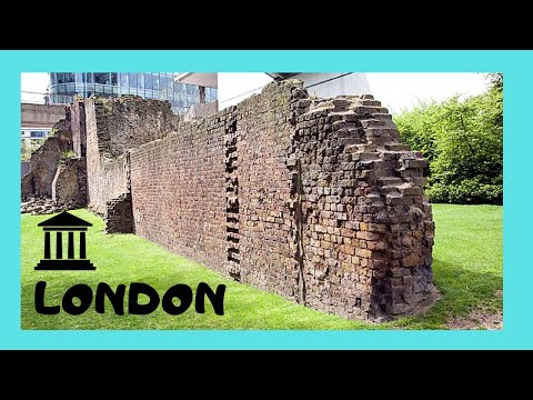 LONDON'S ancient ROMAN CITY WALLS, ENGLAND