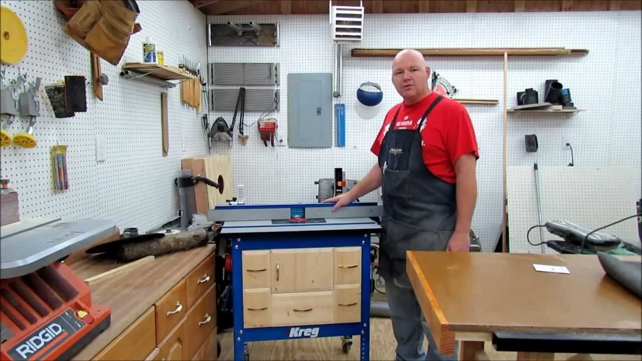 Kreg router cabinet youtube for Build kitchen cabinets with kreg
