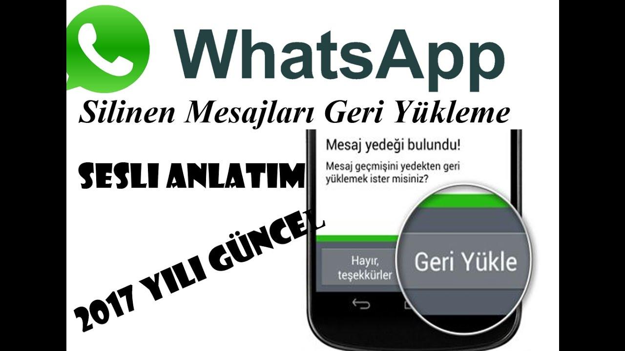 whatsapp yazismalari geri yukleme