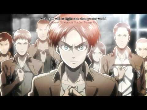 [60 FPS ANIME] Shingeki no Kyojin OP 1 (+Eng Subs/Karaoke)