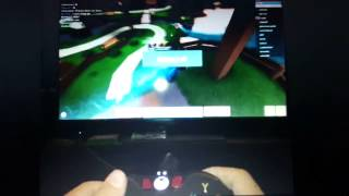 :O You can play roblox with xbox controller!