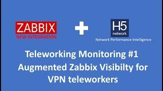 Zabbix H5 Teleworking Monitoring - Augmented Zabbix Dashboard
