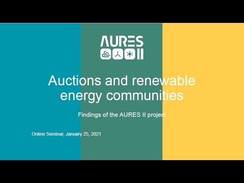The impact of auctions on the renewable energy sector - Findings of the AURES II project
