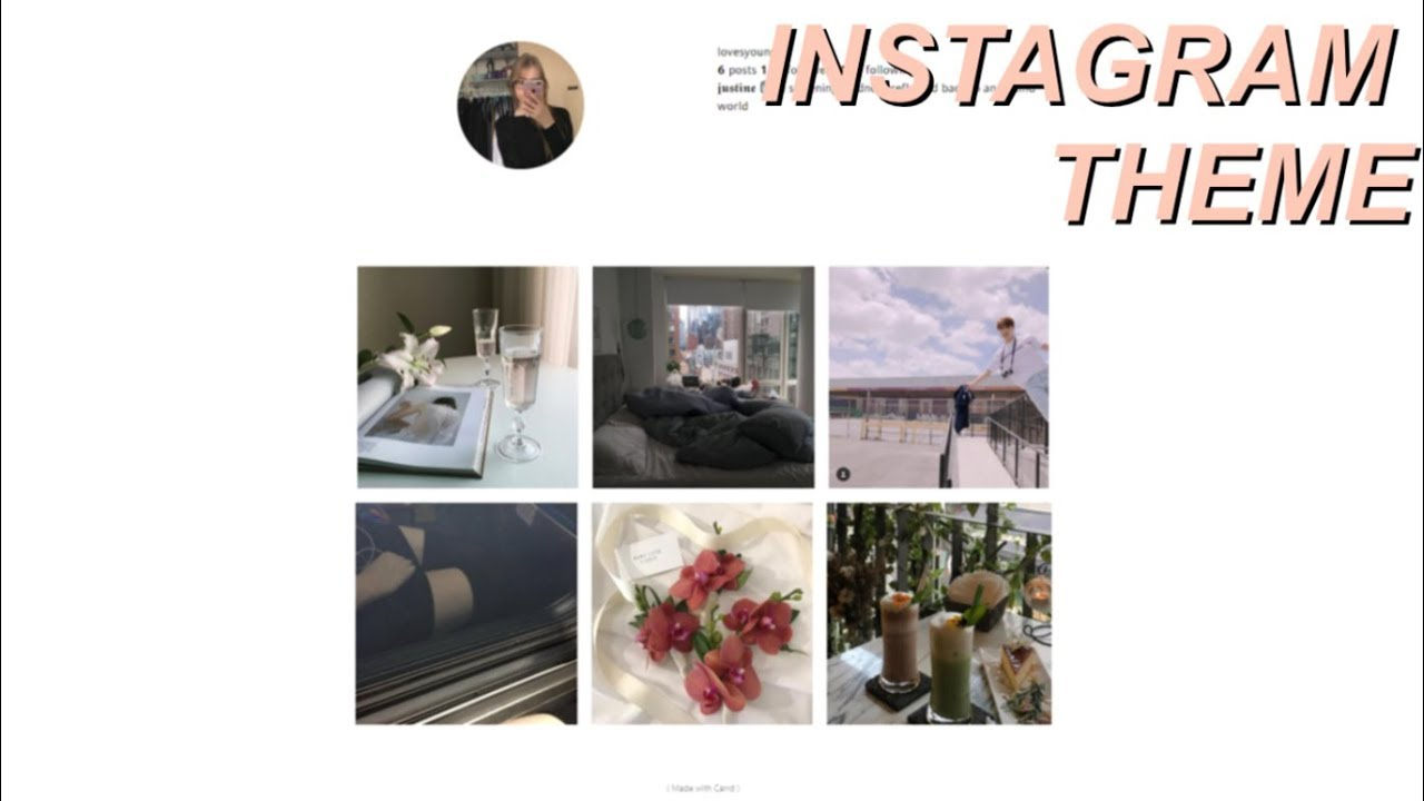 CARRD CO INSTAGRAM THEME HOW TO | Justine Haley