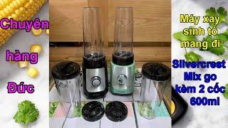 Máy xay sinh tố Silvercrest kèm 2 cốc xay 600ml - Chuyên hàng Đức - 0835191146 - Zalo 0915342887
