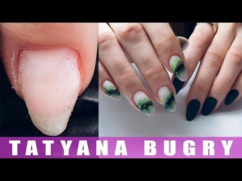 Выравниваем Акригелем Скрученные ногти/ Дизайн ногтей Натуральный Камень/ Татьяна Бугрий
