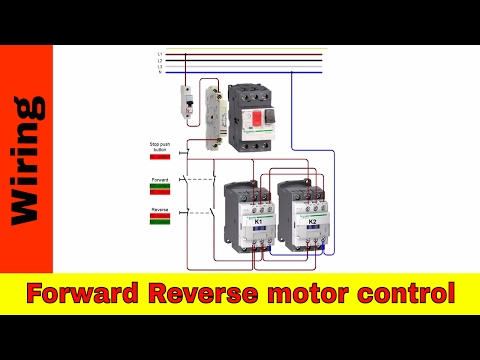 Forward and reverse motor control and power wiring.