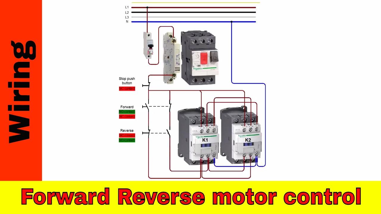 single phase forward reverse wiring diagram