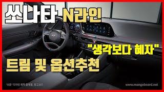 쏘나타N라인 가격공개! 트림 옵션 추천 / 차읽남TV