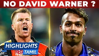 David Warner Ruled Out ?   MI vs SRH Dream 11 Prediction   IPL 2019