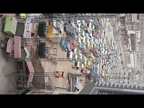 BRT Peshawar Project | Traffic Jam at University road from Gora Qabristan to Peshawar University