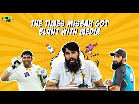 The times Misbah got blunt with media
