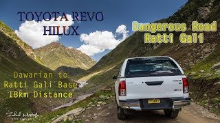 Driving Toyota Revo on Ratti Gali Dangerous Road Neelum Valley Extreme Road Conditiob