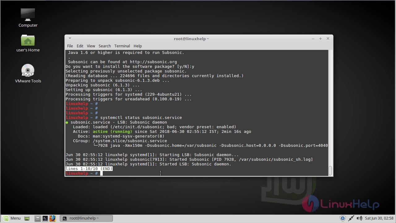 How to install Subsonic on Linux mint -18 03 | LinuxHelp