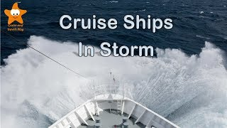 Cruise Ships in Stormy Seas HD @CruisesAndTravels