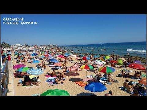 Praia de Carcavelos - A primeira praia oceânica após o estuário do Tejo
