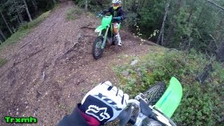 Kawasaki Dirt Bikes: KX250 and KX250F Trail Ride (Part 01)