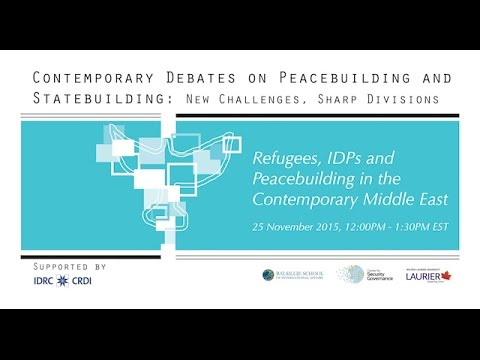 eSeminar: Refugees, IDPs and Peacebuilding