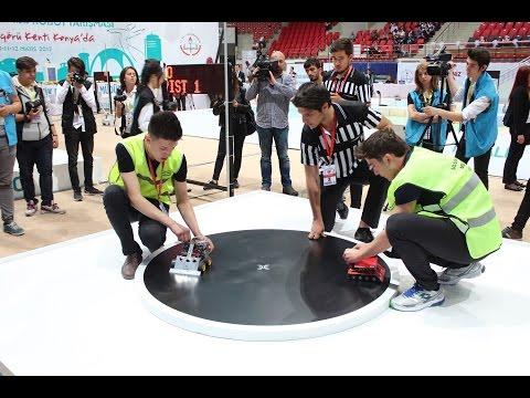 Uluslararası Robot Yarışması'ndan görüntüler (Konya)